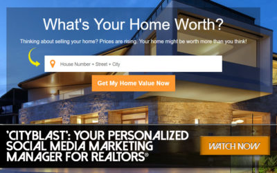 'CityBlast': Your Personalized Social Media Marketing Manager for REALTORS®