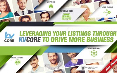 kvCORE: Leveraging your listings through kvCORE to drive more business